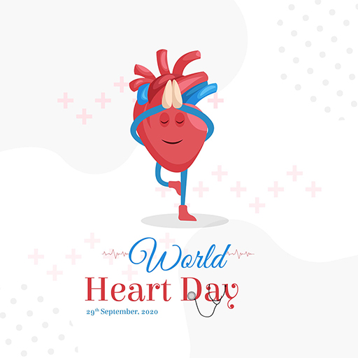 World Heart Day banner design template on a white background