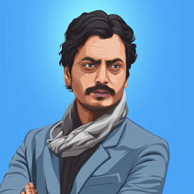 Nawazuddin Siddiqui Vector Illustration Thumbnail-Small