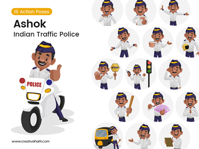 Ashok-Indian-Traffic-Police-Vector-Bundle-Thumbnail-Small