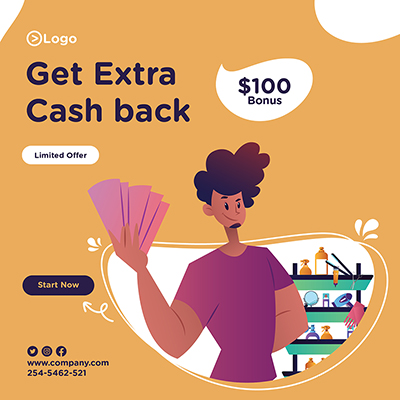 Get extra cash back with salon man banner design 09 small