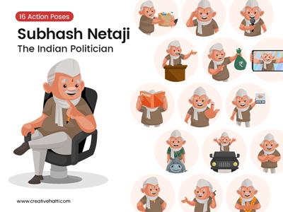 Neta-Ji-Indian-Politician-Vector-Bundle-Thumbnail-Small