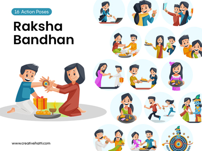 Raksha Bandhan- Khushiyo ki Rakhi Vector Bundle