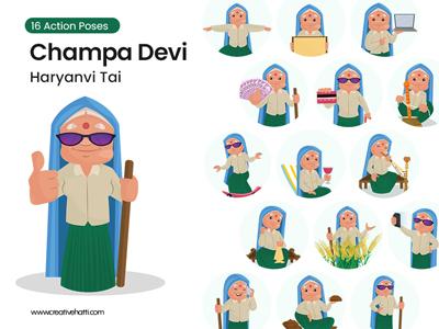 Champa Devi Haryanvi Tai Vector Bundle Thumbnail Small