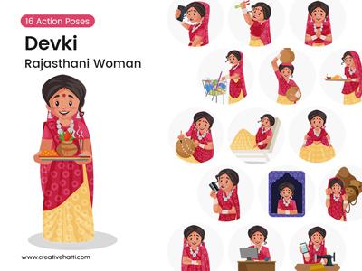 Devki – Indian Rajasthani Woman Vector Bundle