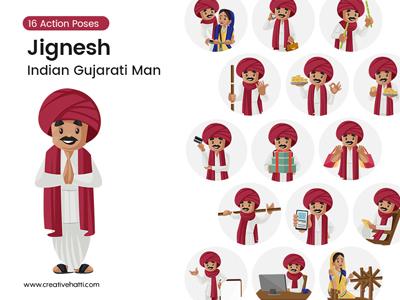 Jignesh – Indian Gujarati Man Vector Bundle