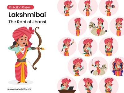 Lakshmibai – The Rani of Jhansi Vector Character Bundle