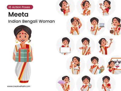 Meeta – Indian Bengali Woman Vector Bundle