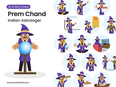 Prem Chand – Indian Astrologer Vector Bundle