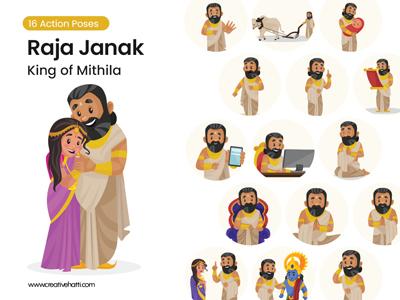 Raja-Janak---King-of-Mithila-Vector Bundle Thumbnail Small