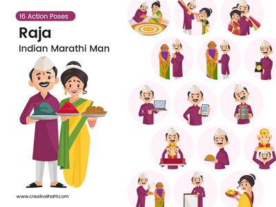 Raja – Indian Marathi Man Vector Bundle