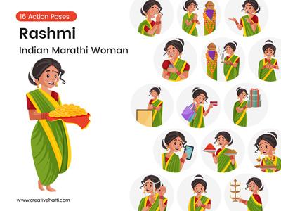 Rashmi – Indian Marathi Woman Vector Bundle