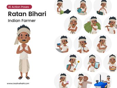 Ratan Bihari – The Indian Farmer Vector Bundle