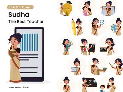 Sudha - The Best Teacher Vector Bundle Thumbnail Small
