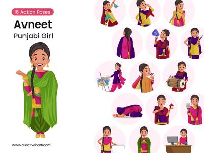 Avneet – Punjabi Girl Vector Bundle