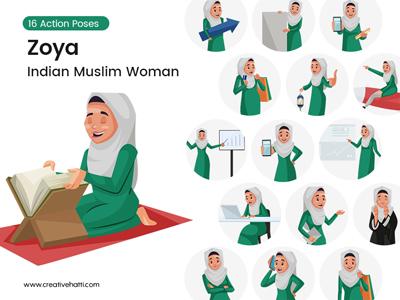 Zoya – Indian Muslim Woman Vector Bundle