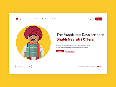 Auspicious days are here Shubh Navratri offers landing page