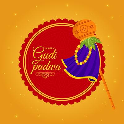 Banner Design Of Indian New Year Festival Gudi Padwa