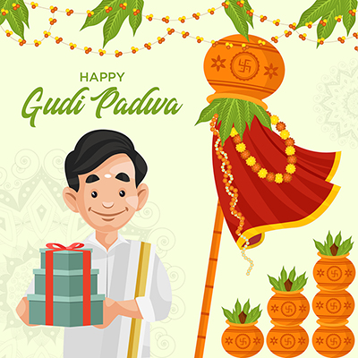 Banner Template Of Indian New Year Gudi Padwa Festival