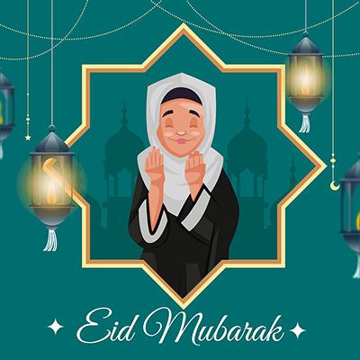 Banner design celebration of Muslim festival Eid Mubarak