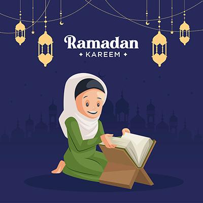 Banner design illustration of Ramadan Kareem festival