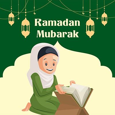 Banner design illustration of Ramadan Mubarak festival