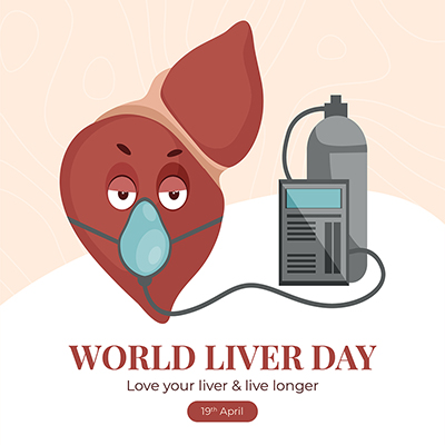 Banner template design of world liver day