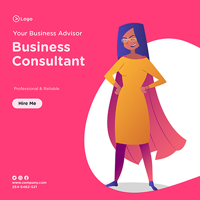 Business consultancy your business advisor banner design
