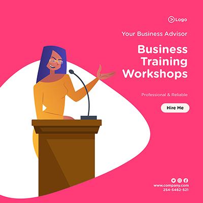 Your business advisor in business training workshops banner