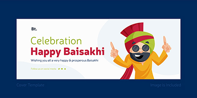 Celebration of happy Baisakhi with Facebook cover design-16 small