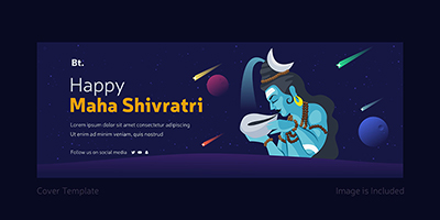Cover page design template of happy Maha Shivratri