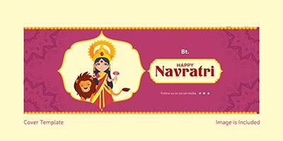 Facebook cover page design for happy Navratri festival
