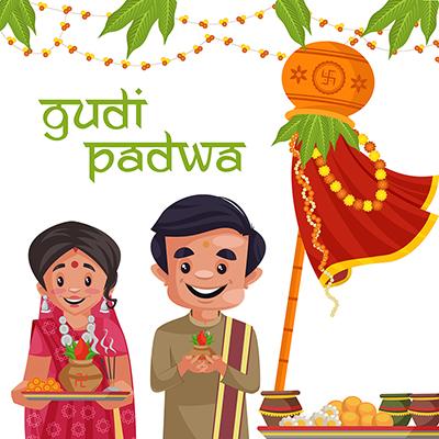 Gudi Padwa Indian New Year Social Media Banner