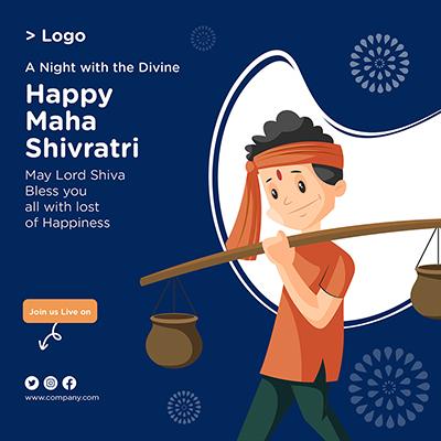 Happy Maha Shivratri banner design template