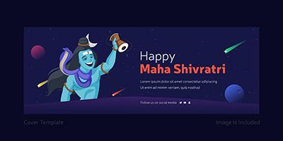 Happy Maha Shivratri cover page design template