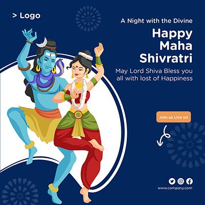 Happy Maha Shivratri social media banner