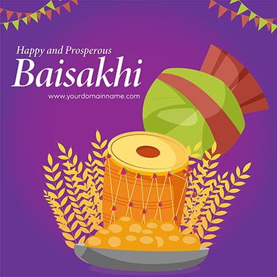 Happy Baisakhi the traditional festival of Punjab