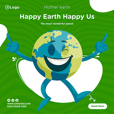 Happy earth happy us mother earth day banner design