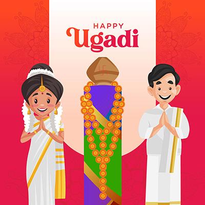 Indian New Year Festival Ugadi Social Media Banner Design