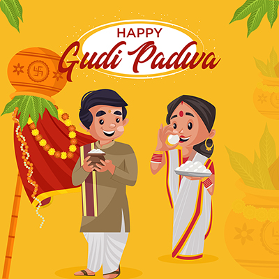 Indian New Year festival Gudi Padwa Banner Template-05 small