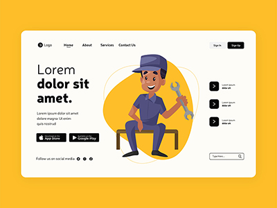 Landing page design with labour day