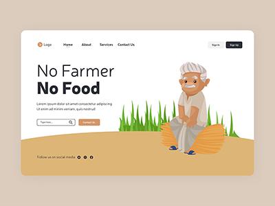 No farmer no food landing page design template- 06 small