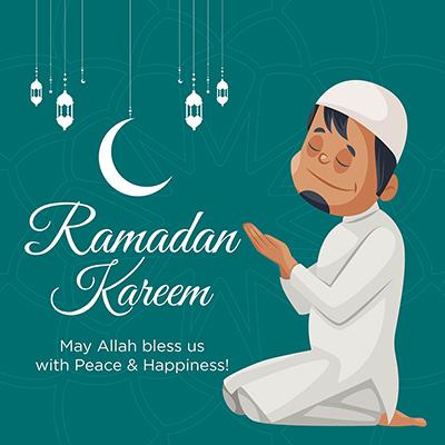 Ramadan Kareem Islamic traditional festival banner design template