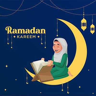 Ramadan Kareem festival with social media banner design template