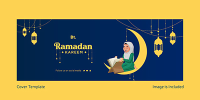 Ramadan Kareem festival on a beautiful facebook cover design