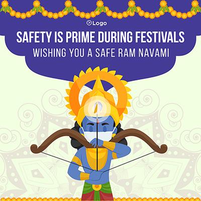 Safe Ram Navami social media banner template