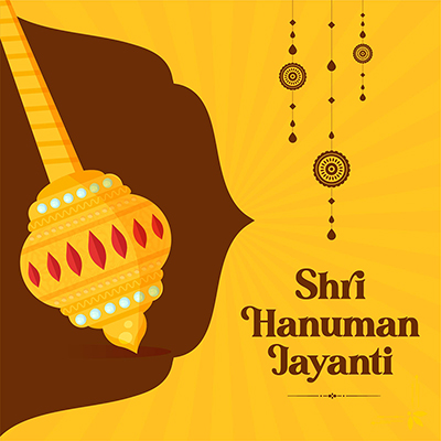 Indian festival Shri Hanuman Jayanti banner design template
