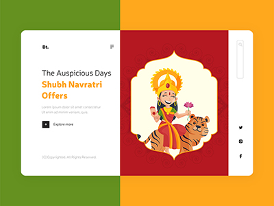 Shubh Navratri festival wishes offers landing page design