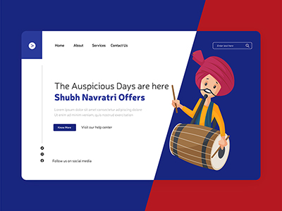 Shubh Navratri offers with social landing page design