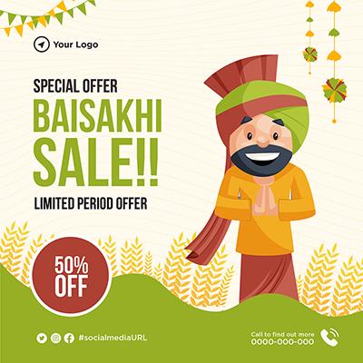 Special sale on Baisakhi festival banner design