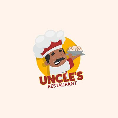 Uncles Resturant Food Vector Mascot Logo Template 06 small